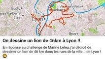 GPS drawing : ils dessinent un lion de 46 km