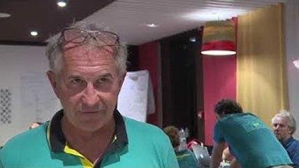 Jacques CARAES, directeur de course, à propos de l'échouement d'Alex THOMSON - Hugo Boss