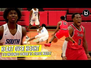 "HEART OVER HEIGHT! 5'9"" Unsigned Senior VS Tyrese Maxey Kentucky Next PG"