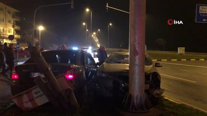 Alaplı Yalı Kavşağı'nda İki Araç Çarpıştı: 4 Yaralı