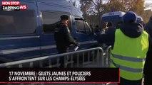 17 novembre : affrontements entre gilets jaunes et policiers sur les Champs-Élysées (vidéo)