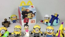 2017 McDonalds Happy Meal Minions Toys Complete Set Despicable Me 3 Keith's Toy Box Unboxing Demo