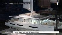 Titouan Lamazou expose son bateau atelier