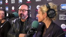 """L'équipe du film """"Le gendre de ma vie"""" au Festival du Film de Sarlat (Kad Merad, Julie Gayet, Pauline Etienne et François Desagnat)"""