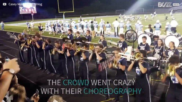 Trombone players perform incredible choreography