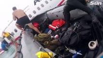 Sauvetage des passagers de l'avion Air Niugini en pleine mer !
