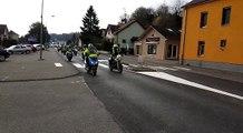 Franche-Comté Gilets jaunes Opération escargot vers le centre-ville de Belfort