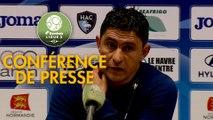 Conférence de presse Havre AC - Gazélec FC Ajaccio (2-2) : Oswald TANCHOT (HAC) - Hervé DELLA MAGGIORE (GFCA) - 2018/2019
