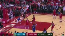 Stephen Curry gets stuffed blocked by rim in the clutch trying to do a wide open dunk during Game 3 loss Rockets vs Warriors 5-4-19