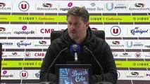 Conférence de presse Fabien Mercadal après EA Guingamp / SMCaen