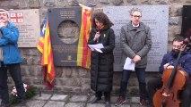 Delgado abandona el acto  de Mauthausen en señal de protesta