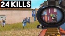 FULL SQUAD AFTER ME!  24 KILLS SOLO vs SQUADS   PUBG Mobile
