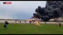 L'incendie d'un avion à l'aéroport de Moscou fait au moins un mort et plusieurs blessés