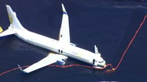Officials trying to get Boeing 737 out of Florida river