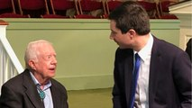Pete Buttigieg Attends Former President Jimmy Carter's Sunday School Class