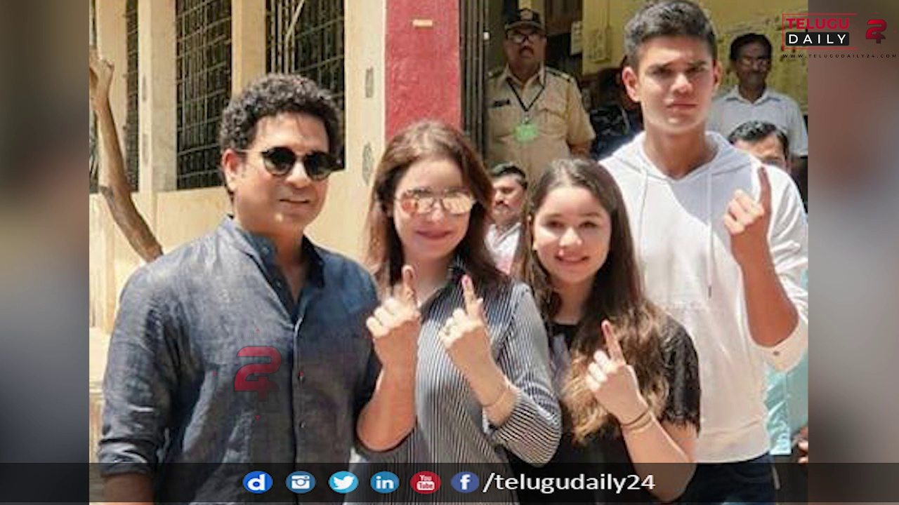 Voting this year so much special with Sara and Arjun voting first time|#sachin #telugudaily24