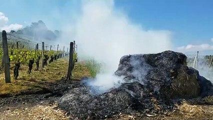 Les feux de paille de protection des viticulteurs près des Arsures