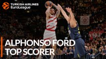 2018-19 Turkish Airlines EuroLeague Alphonso Ford Top Scorer: Mike James, AX Armani Exchange Olimpia Milan