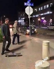 Elle pète un plomb contre son mari qui s'est arrêté faire du skate avec des jeunes dans la rue