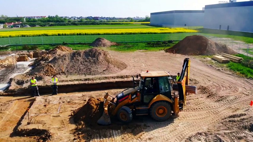 Le nouveau siège de l'entreprise Jozwiak est en construction.