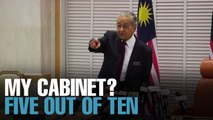 NEWS: Dr M gives his Cabinet a 5 out of 10