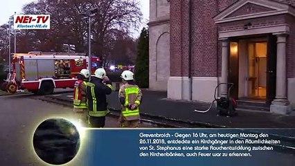 2018-11-26_Grevenbroich: Feuer in St. Stephanus - Kirchgänger verhinderte Großbrand