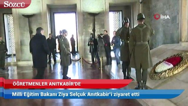 Milli Eğitim Bakanı Ziya Selçuk Anıtkabir'i ziyaret etti