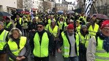 Manifestation de Gilets jaunes à Vannes
