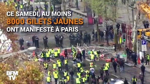 Gilets jaunes à Paris: la manifestation sur les Champs-Élysées dégénère dans la violence