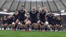 Rugby - Test match - Le haka des All Blacks face à l'Italie