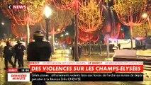 Gilets jaunes: Regardez les images du début de soirée avec les affrontements qui se sont poursuivis sur les Champs Elysées