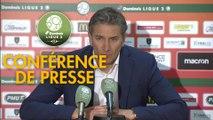 Conférence de presse RC Lens - Grenoble Foot 38 (0-0) : Philippe  MONTANIER (RCL) - Philippe  HINSCHBERGER (GF38) - 2018/2019