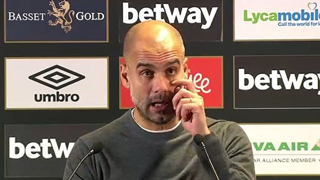 Reaction from Pep Guardiola following Manchester City's 4-0 win at West Ham in EPL
