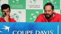"""Coupe Davis 2018 - France-Croatie 2018 - Zeljko Krajan n'a pas aimé l'attitude du public du stade de Lille lors du double : """"Que ça ne se reproduise pas dimanche !"""""""