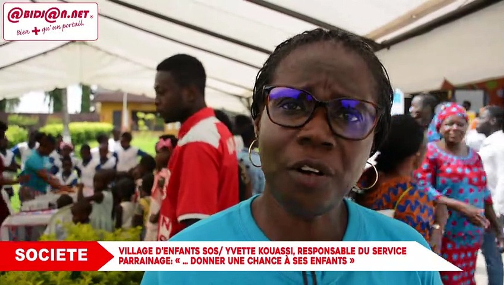 [Video] Village d'enfants SOS: Yvette KOUASSI, responsable du service parrainage- «… donner une cha