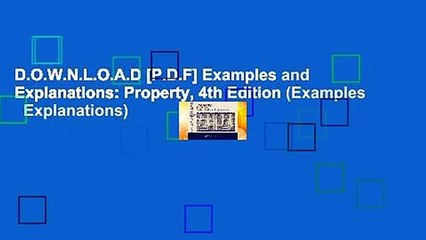 d o w n l o a d p d f examples and explanations property 4th edition examples explanations