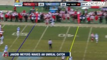 NC State WR Jakobi Meyers Makes Unreal One-Handed Catch