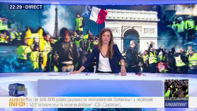 Gilets jaunes: la tension demeure sur les Champs-Elysées (2/2)