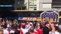 Le bus de Boca Juniors caillassé par les supporters de River Plate