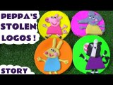Peppa Pig Stolen Play Doh Logos Game with Thomas and Friends Tom Moss and Paw Patrol, A Fun Hide and Seek Game Toy Story for kids