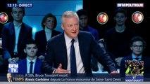 """Gilets jaunes: Bruno Le Maire juge les débordements """"inacceptables"""""""