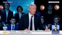 """Carburants: pour Bruno Le Maire, la France """"doit se libérer des énergies fossiles pour ne pas être le jouet des négociations entre Trump et l'Opep"""""""