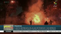 Francia: represión policial deja heridos y detenidos