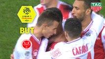 But Xavier CHAVALERIN (2ème) / Stade de Reims - EA Guingamp - (2-1) - (REIMS-EAG) / 2018-19