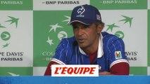 Noah «Le tennis, c'est fini pour moi» - Tennis - Coupe Davis (Finale)