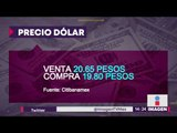 Dólar sube a 20.65 pesos tras iniciativa sobre comisiones bancarias | Noticias con Yuriria Sierra