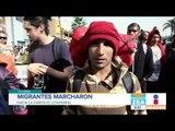 """Migrantes marcharon hasta la garita """"El chaparral""""   Noticias con Francisco Zea"""