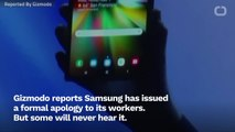 Sorry, Not Sorry: Samsung Apologizes To Its Workers, Leaving Out Crucial Detail