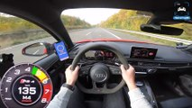 AUDI RS4 B9 Avant 2.9 V6 BiTurbo 294km/h AUTOBAHN POV TOP SPEED