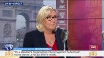 """Pour Marine Le Pen, le gouvernement a volontairement """"laissé venir"""" les casseurs sur les Champs-Élysées pour décrédibiliser les gilets jaunes"""